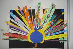 kern 6: elk kind ontwerpt eigen veer om zo een prachtige pauw te bekomen.