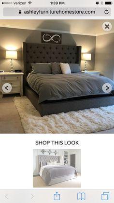 Master bedroom - tufted headboard