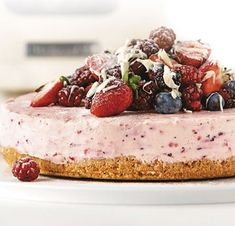 White Chocolate Berry Cheesecake Recipe - Desserts - Recipes | Milly's Kitchenware
