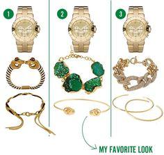 watch + bracelets 2013 jewelry fashion trends