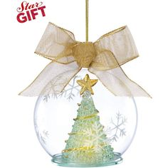 Lenox Light Up Tree Wonder Ball Ornament (37 CAD) ❤ liked on Polyvore featuring home, home decor, holiday decorations, christmas, backgrounds, winter, peace christmas ornaments, christmas ball ornaments, christmas ornaments and gold ornaments