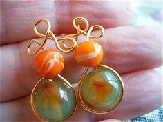 Glass and Quartz EarringsGold Posts Summer fashion by JoJosgems, $16.00