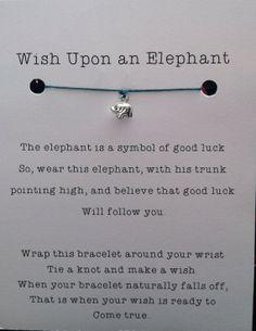 Lucky Elephant Wish Bracelet Sterling Silver by JensLuckyElephant