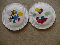 Toddler craft paper plate tambourine