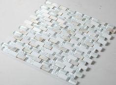 Glass mosaic tile backsplash mirrored subway tiles mosaic stone tile GC001 crystal glass mosaics mother of pearl shell tiles