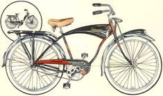 1956 Schwinn Black Phantom (Men's & Women's). Women's Black Phantom only available that year.