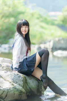 School Girl Japan, Japanese School Uniform Girl, School Girl Outfit, Beautiful Japanese Girl, Beautiful Young Lady, Beautiful Girl Image, Beautiful Asian Girls, Cute Asian Girls, Cute Girls