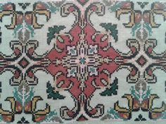 Cross Stitch Borders, Counted Cross Stitch Patterns, Beaded Embroidery, Embroidery Designs, Needlepoint, Needlework, Bohemian Rug, Mandala, Carpet