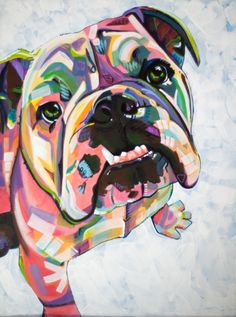 English Bulldog Print Art Print