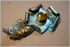 Steampunk jewelry tutorial. Using alcohol inks.
