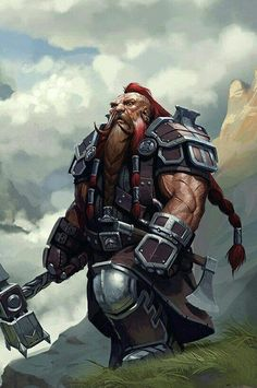 Fighter barbarian dwarf