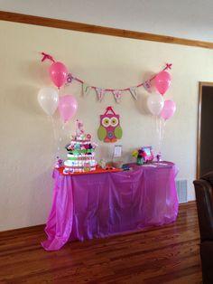 Owl themed baby shower!