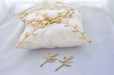 Gold Plated Stefana Set with Freshwater Pearls, $214.00 at the Greek Wedding Shop ~ http://www.greekweddingshop.com/