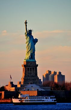 I just have to see Statue of Liberty once in my life cz it stands for freedom…