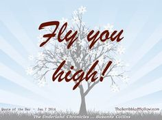 Quote of the Day - The Scribbled Hollow - Jan 7 2014 Suzanne Collins Gregor the Underlander Chronicles - Fly you high!