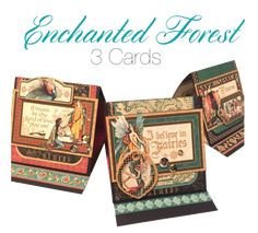 Graphic 45 Presents an Enchanted Forest Mixed Media Album & Card Set