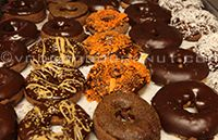 maple frosting, chocolate frosting, toasted coconut, flake coconut ...