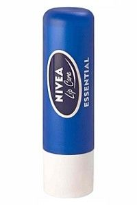 Nivea Essential Lip Care.   I honestly don't think I could survive without this stuff. :-)  OK...maybe I could...but my lips couldn't!