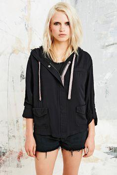 Drapey Jena Jacket in Black