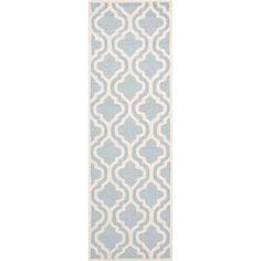 Varick Gallery Martins Light Blue/Ivory Area Rug Rug Size: