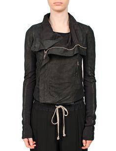 Rick Owens Leather Jacket Black from MRS H | HANDPICKED DESIGNER FASHION, SKIN CARE & PERFUME
