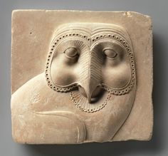 heracliteanfire:    Relief plaque with face of an owl. Egypt, 400–30 B.C. (via The Metropolitan Museum of Art)