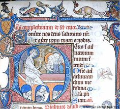 m729.342ra.jpg (495×450) Manuscript Morgan M.729 Psalter-Hours of Yolande de Soissons Folio 342r Dating 1280-1299 From Amiens, France Holding Institution Morgan Library