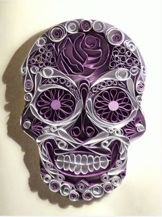 This skull is awesome! #inked #paper #quilling #skull #art #creative
