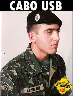 É verdadeira a foto de um Cabo do Exército chamado Usb?