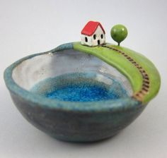 Come Up...Keepsake Bowl in Stoneware
