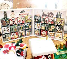 Calendario scrapbooking de Navidad hecho con papel. Ideas Scrapbooking, Album Scrapbook, Blog, Diy, Container, Xmas, Card Tutorials, Advent Calendar, Greeting Cards