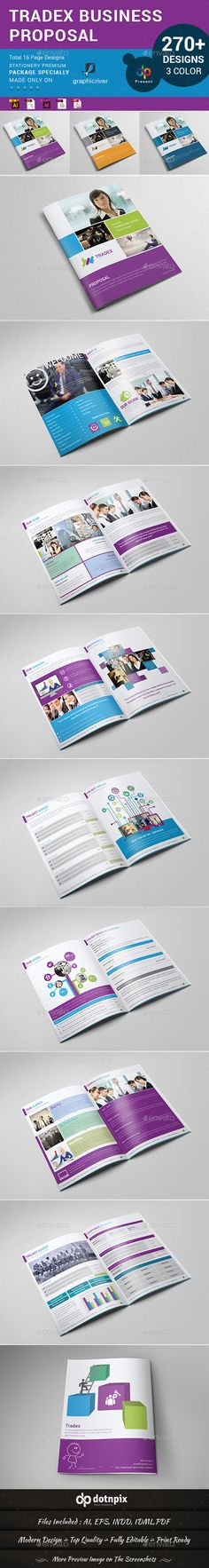 Tradex Business Propsal by dotnpix  Items Worth Checking Out Tradex Business Propsal is a designed for Any types of companies. It is made by simple shapes Although