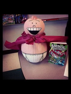 A Captain Underpants Pumpkin for Halloween, but we'll have Dav Pilkey for IRA14!