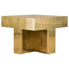 Paul Evans Brass Occasional Table | 1stdibs.com