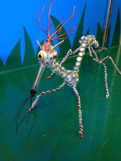 Wire creature on display at our Geneva store made by a creative employee.