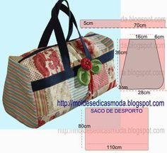 PASSO A PASSO MOLDE DE SACO Corte dois retângulos de tecido com a altura e largura que pretende para as laterais da bolsa. Desenhe as laterais do saco. Des