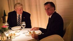 """The 2012 GOP presidential nominee praises the president-elect after the two dined in New York City. Romney blasted Trump as a """"phony"""" and """"fraud"""" during the campaign."""