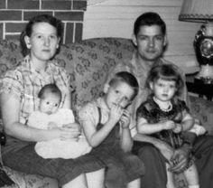 Life in the 50's...Family photo...I loved growing up in the late 50's and 60's. Life really was simpler. Staying outside till dark, the family having dinner together at home around the table. Good times and very special memories!