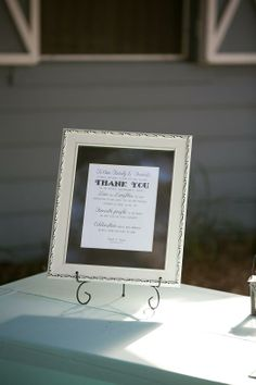 Thank you sign- Rustic Florida Wedding- Lange Farm in Dade City {Curtiss Bryant Photography}