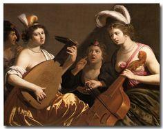 Jan van Bijlert (1597-1671) - Le Concert, huile sur toile,1635/1640, collection privée