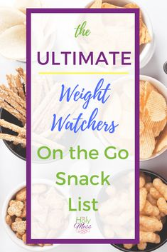 Diet Snacks The Ultimate Weight Watchers On the Go Snack List Weight Watchers Snacks, Plats Weight Watchers, Weight Loss Snacks, Healthy Weight Loss, Weight Watchers Program, Weight Watchers Points List, Weight Watchers Motivation, Snacks List, Healthy Snacks