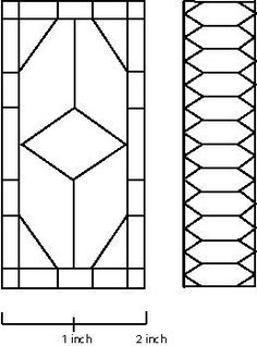 Patterns for Simple Dollhouse Stained Glass Windows