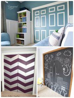 painted closet door makeovers