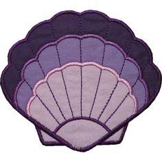 Clam Shell Applique by HappyApplique.com