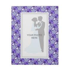 Purple Iris Wedding Photo Plaque