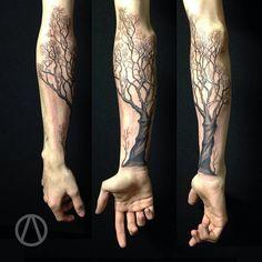 tattrx Okan Akgöl - new school tattoos neotrad berlin istanbul tattrx tattoo… Tree Sleeve Tattoo, Nature Tattoo Sleeve, Nature Tattoos, Sleeve Tattoos, Forarm Tattoos, Body Art Tattoos, Hand Tattoos, Tatoos, Tree Tattoo Designs