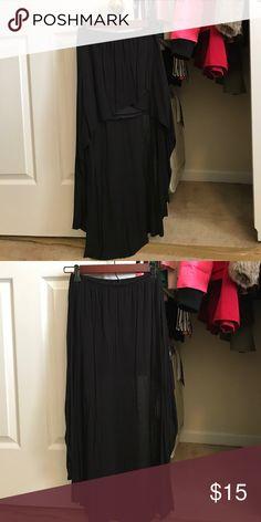 Black skirt Black hi-low skirt Body Central Skirts High Low