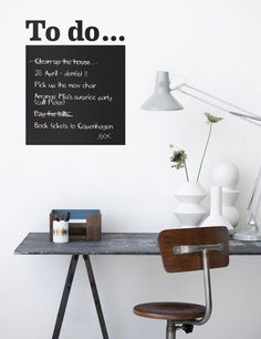 "great wall decal ""to do"" list."