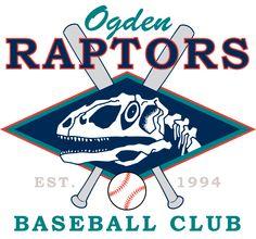 Odgen Raptors Baseball Team Logo 1994