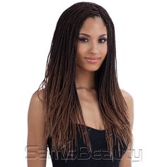 FreeTress Synthetic Hair Crochet Braids Micro Senegalese Twist ...""